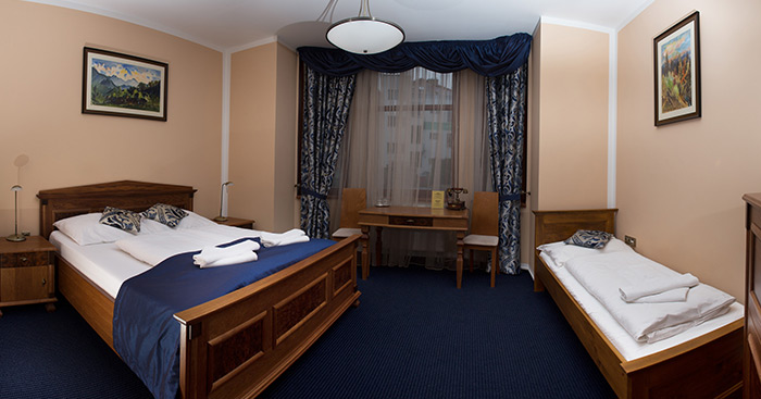 We offer accommodation for families as well as business customers.